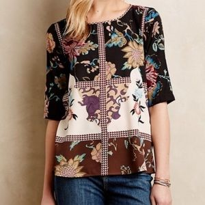 Anthropologie Vineet Bahl Floral Print Top Size XS